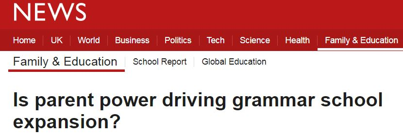 BBC Grammar Parent Power